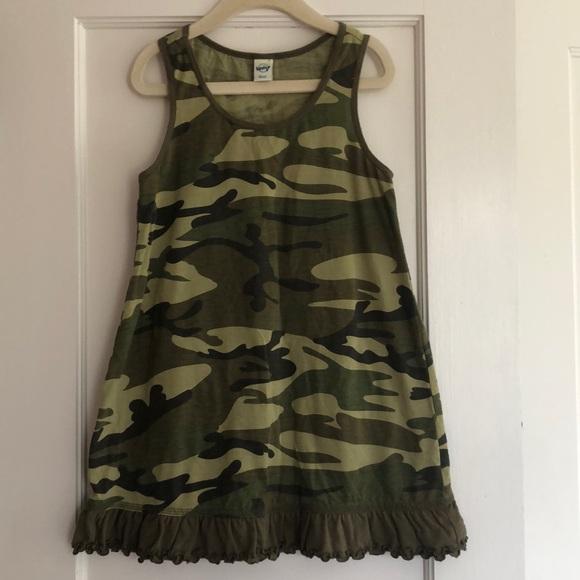 5cc72af3d4974 Kavio! Girl Dresses | Euc 6x Ruffle Bottom Camo Tank Dress | Poshmark